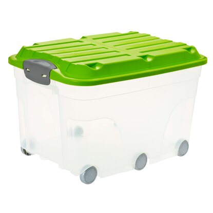 Rotho Roller Box 2er-Set Grün-Transparent