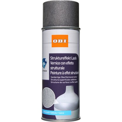 OBI Struktureffekt Lack Spray Anthrazit seidenmatt 400 ml