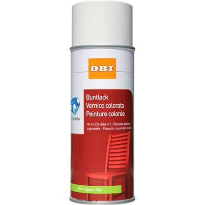 OBI Buntlack Spray Reinweiss matt 400 ml