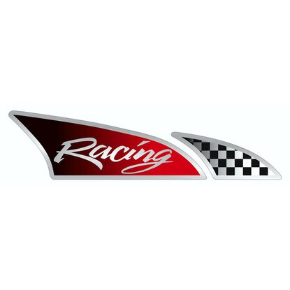 Sticker Racingflagge re. Dimension