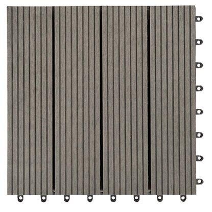 bodenplatte composit wpc 30 cm x 30 cm grau kaufen bei obi. Black Bedroom Furniture Sets. Home Design Ideas