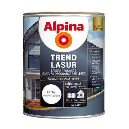 Alpina Trendlasur Metallic Fire Red 750 ml
