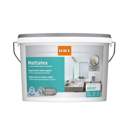 OBI Mattlatex Weiss matt 10 l