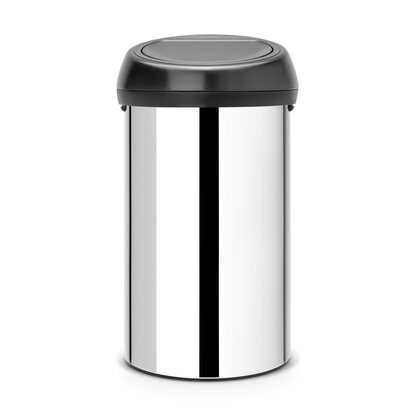 Brabantia Touch Bin 60 l Brilliant Steel Matt Black Lid