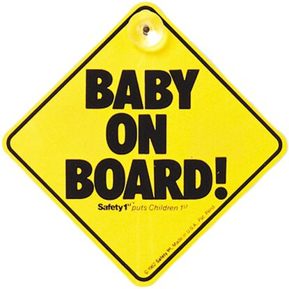 Safety 1st Baby on Board Schild