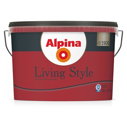 Alpina LivingStyle Deep Red 2,5 l