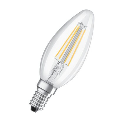 Osram LED-Lampe EEK: A++ Retrofit Kerzenform E14 / 4 W (470 lm) Warmweiss