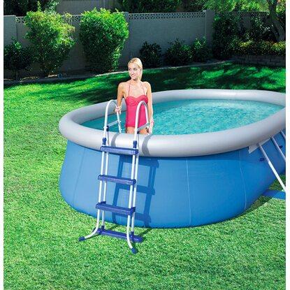 Schwimmbecken leiter 107 cm kaufen bei obi for Schwimmbecken bei obi
