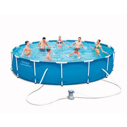 Bestway frame pool steel pro set 427 cm x 84 cm inkl for Bestway pool obi