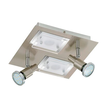 Briloner LED-Deckenleuchte EEK: A+ Combinata 4-flammig 3 W + 5 W Nickel matt