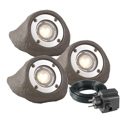 Garden Lights LED-Garten-Spot EEK: A+ Lapis 3er-Set 12 V
