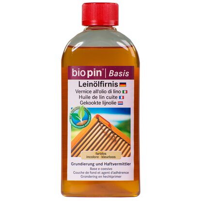 Biopin Leinölfirnis Transparent 250 ml