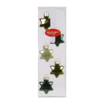 Magic Glasornament Stern 5-tlg. 40 mm Christmas Greens