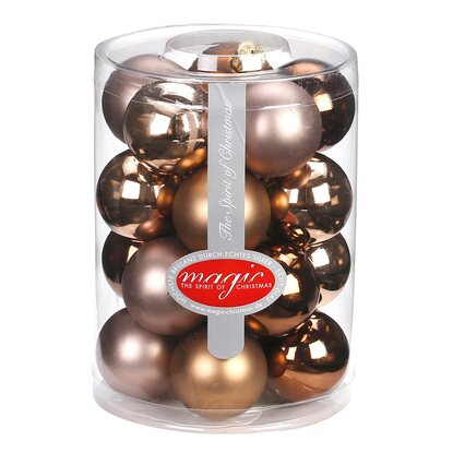 Magic Weihnachtsbaumkugel-Set Glas 20-tlg. 40 mm Elegant Lounge Mix