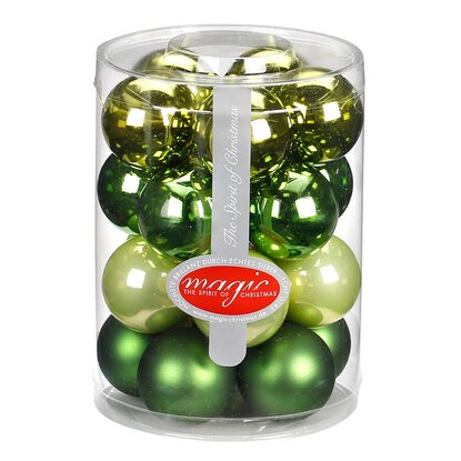 Magic Weihnachtsbaumkugel-Set Glas 20-tlg. 40 mm Christmas Greens Mix
