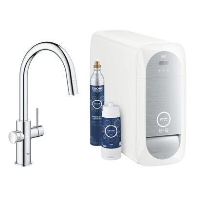 GROHE Blue Home C-Auslauf Starter Kit chrom