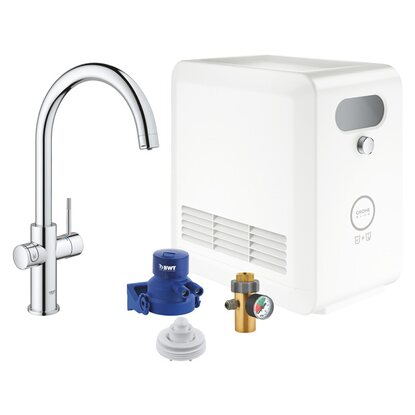 GROHE Blue Professional C-Auslauf Set chrom
