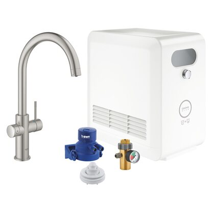 GROHE Blue Professional C-Auslauf Set supersteel