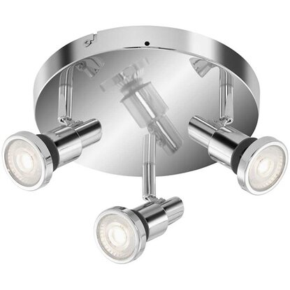Briloner LED-Spotleuchte Bad Flamo Chrom 3 x GU10 / 4 W