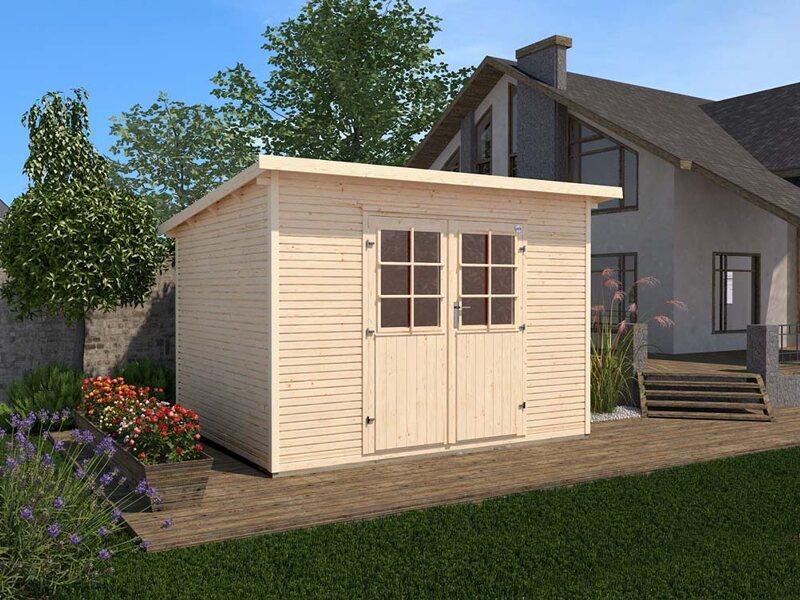 weka gartenhaus 219 gr 1 natur kaufen bei obi. Black Bedroom Furniture Sets. Home Design Ideas