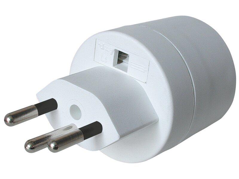 steko adapter europa schweiz t12 3 polig max 10 a mit sicherung kaufen bei obi. Black Bedroom Furniture Sets. Home Design Ideas