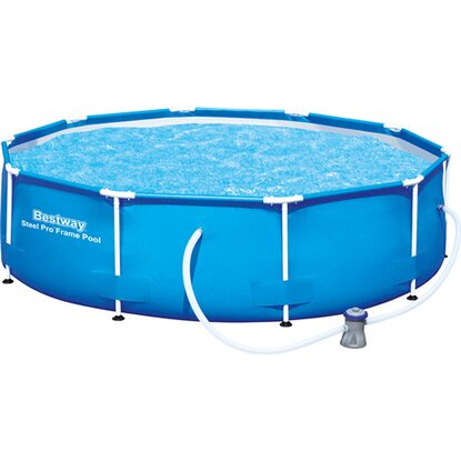 Bestway Stahlrahmen Swimming Pool-Set Ø 305 cm x 76 cm