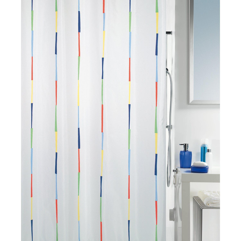 spirella duschvorhang textil dario 180 cm x 200 cm multicolor kaufen bei obi. Black Bedroom Furniture Sets. Home Design Ideas