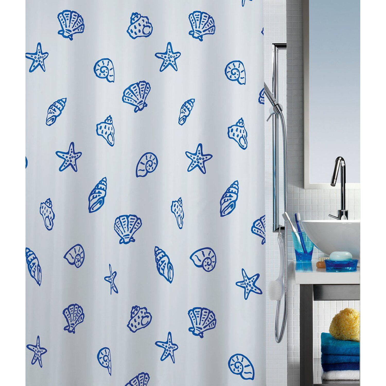 Duschvorhang Textil spirella duschvorhang textil concha 180 cm x 200 cm marine kaufen
