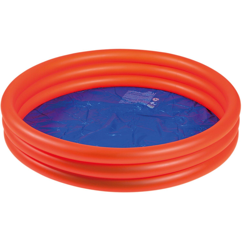 Happy people planschbecken 122 cm 3 ringe rot kaufen bei obi for Planschbecken obi