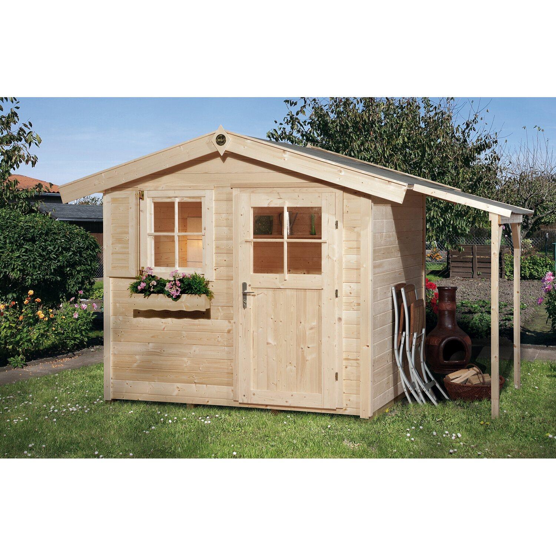 obi holz gartenhaus bozen a inkl schleppdach kaufen bei obi. Black Bedroom Furniture Sets. Home Design Ideas
