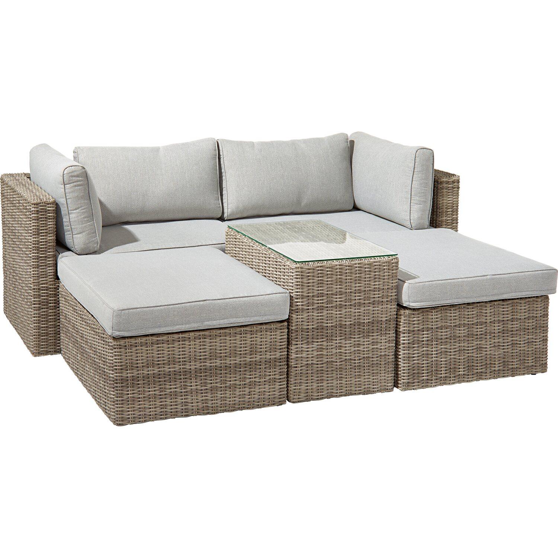 OBI Lounge-Gruppe Olea II 5-tlg. Grau kaufen bei OBI
