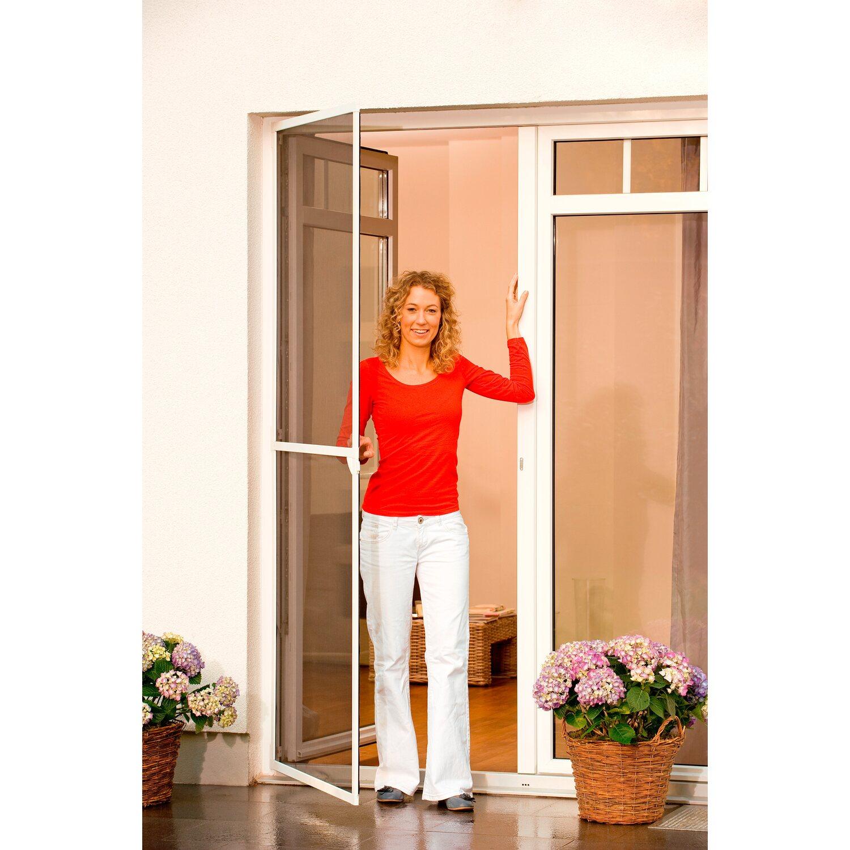 tesa fliegengitter alu rahmen comfort t r braun 240 cm x 120 cm kaufen bei obi. Black Bedroom Furniture Sets. Home Design Ideas