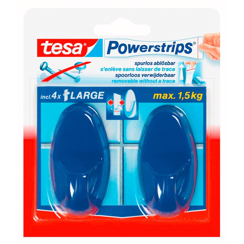 Tesa Powerstrips Haken Large Oval Blau 69 Cm X 37 Cm Kaufen Bei Obi