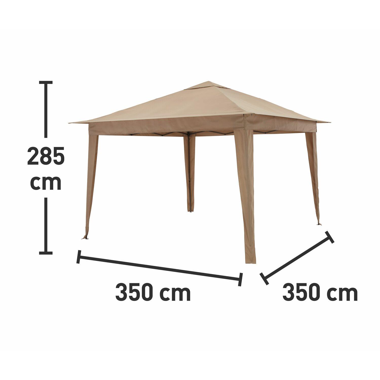 cmi falt pavillon sahara beige 350 cm x 350 cm kaufen bei obi. Black Bedroom Furniture Sets. Home Design Ideas