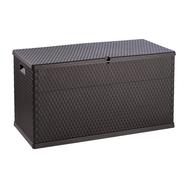 kissenbox geflechtoptik anthrazit 63 cm x 120 cm x 57 cm kaufen bei obi. Black Bedroom Furniture Sets. Home Design Ideas