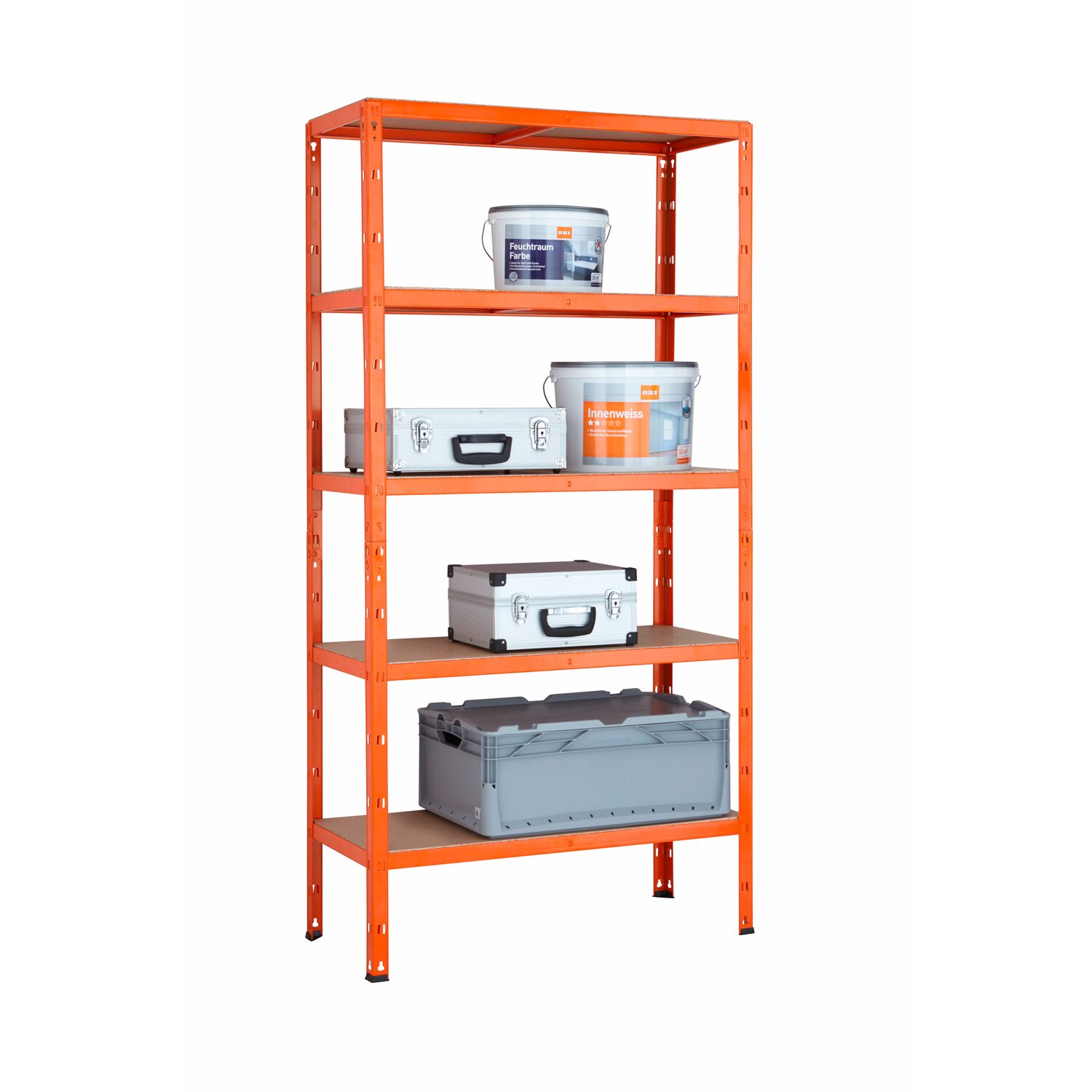 metall schwerlastregal steckregal orange 180 cm x 90 cm x. Black Bedroom Furniture Sets. Home Design Ideas