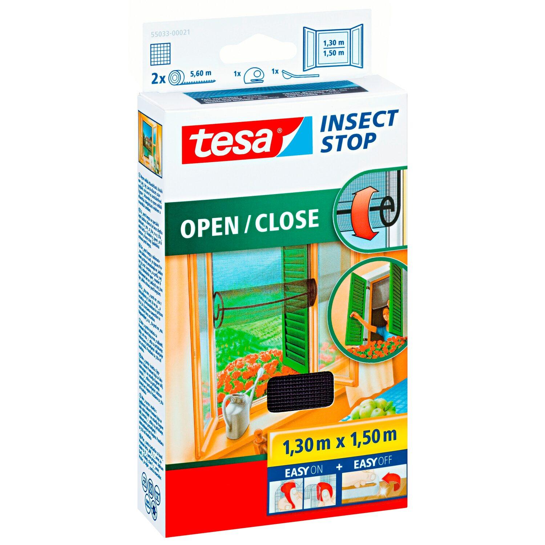 Tesa Fliegengitter Fenster Offnen Und Schliessen 150 Cm X 130 Cm