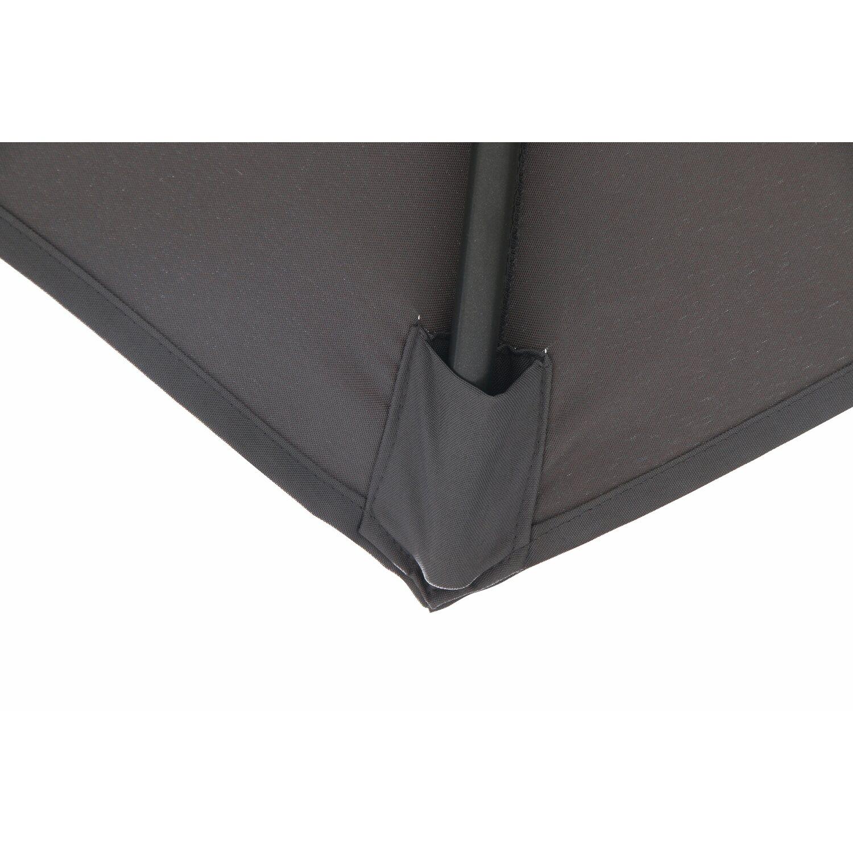 obi sonnenschirm honolulu 6 eckig anthrazit 300 cm. Black Bedroom Furniture Sets. Home Design Ideas