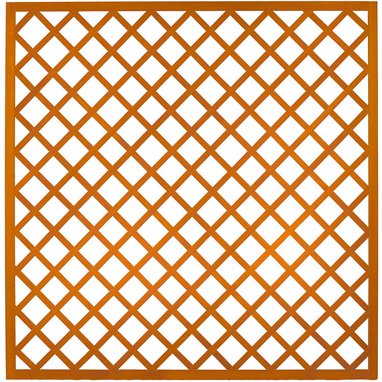 Andrewex Sichtschutzzaun Element Pergola Pinienfarben 180 X 180 Cm