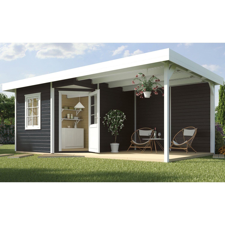 weka holz gartenhaus san remo b anthrazit weiss bxt 601x298 cm davon 303 cm terr kaufen bei obi. Black Bedroom Furniture Sets. Home Design Ideas