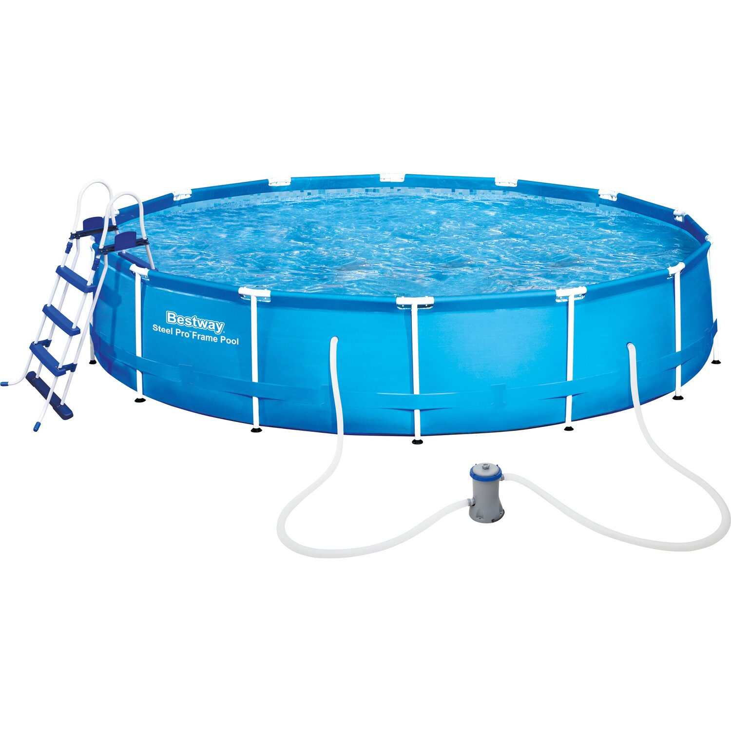 Bestway stahlrahmen swimming pool set 457 cm x 91 cm for Pool staubsauger obi