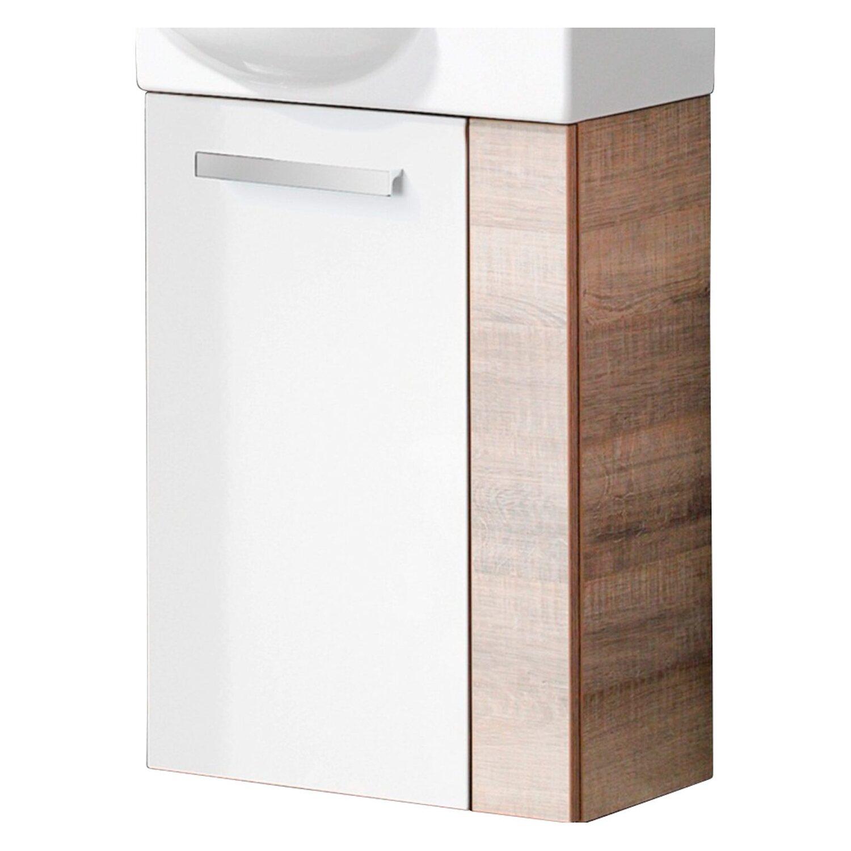 fackelmann waschbeckenunterschrank g ste wc a vero eiche weiss kaufen bei obi. Black Bedroom Furniture Sets. Home Design Ideas