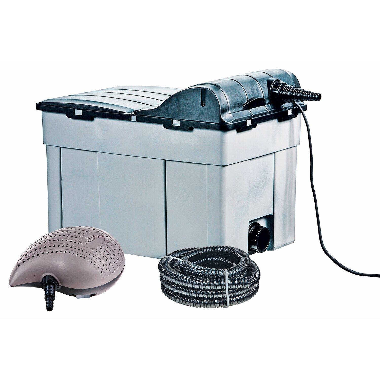 heissner teichfilter komplett set pumpe u uvc 16 39 000 l kaufen bei obi. Black Bedroom Furniture Sets. Home Design Ideas
