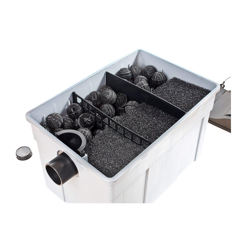 heissner teichfilter komplett set pumpe u uvc 16 39 000 l. Black Bedroom Furniture Sets. Home Design Ideas