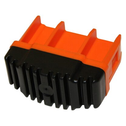Krause Fussstopfen Orange 64 mm x 25 mm
