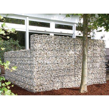 gabionen mauer limes 118 cm x 23 cm x 150 cm mit kalkstein. Black Bedroom Furniture Sets. Home Design Ideas