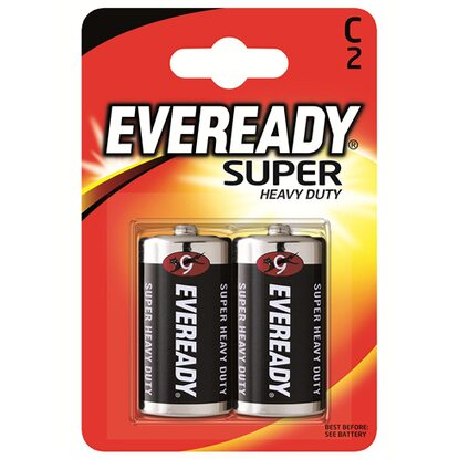 Energizer Eveready Super Heavy Duty Baby C 2er-Blister