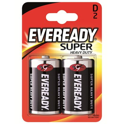 Energizer Eveready Super Heavy Duty Mono D 2er-Blister