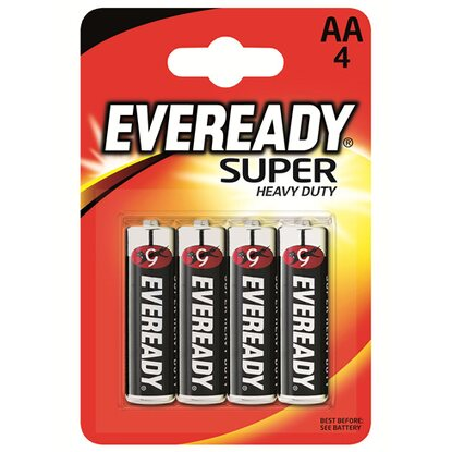 Energizer Eveready Super Heavy Duty Mignon AA 4er-Blister