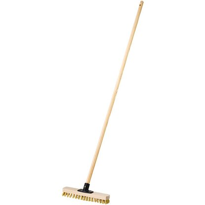 LUX Wischer 30 cm Holz Power-Stick angestielt